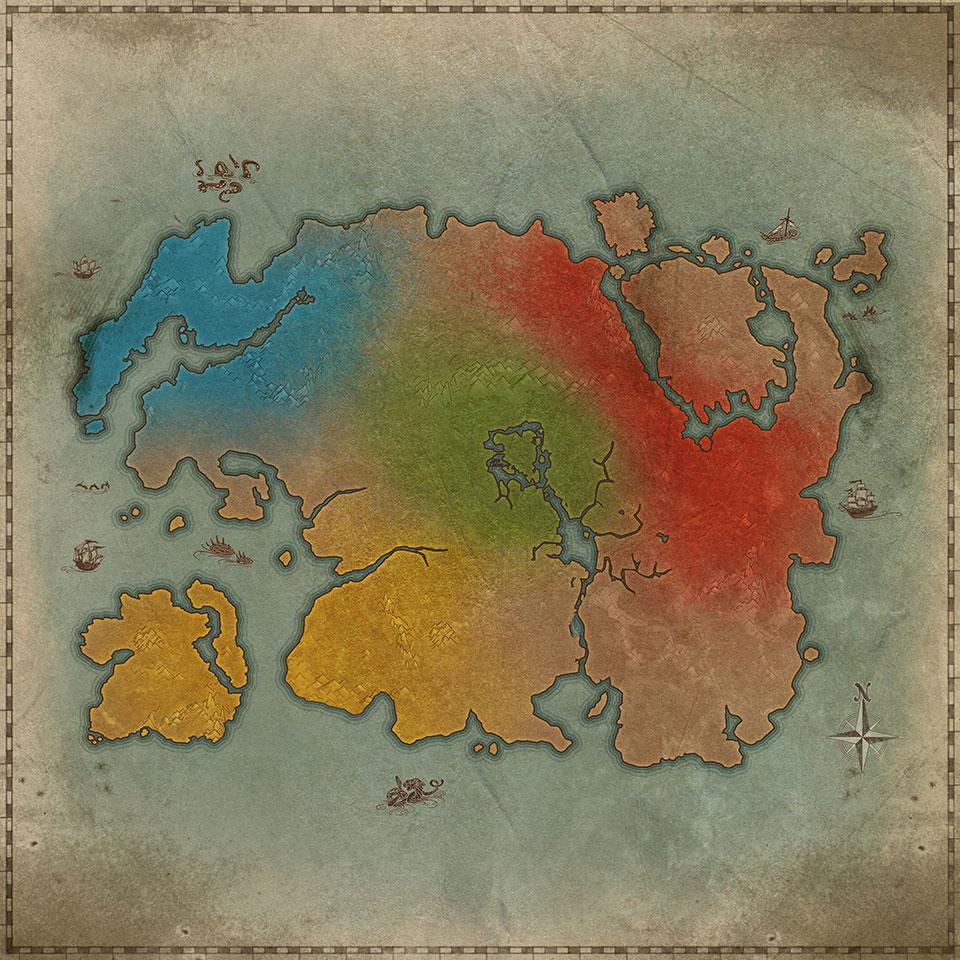 Карта Тамриеля