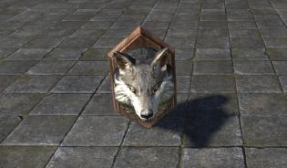 Голова Волка, Для крепления на стену