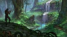 Творческое изображение - Водопад в Гратвуде