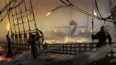 Творческое изображение - (Оф.Арт) Битва с морскими змеями