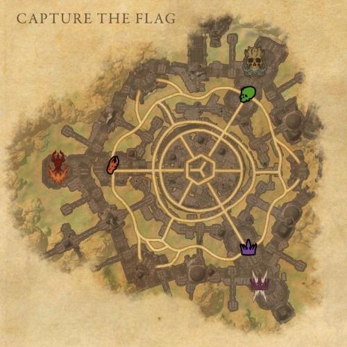 Карта в режиме захвата флага