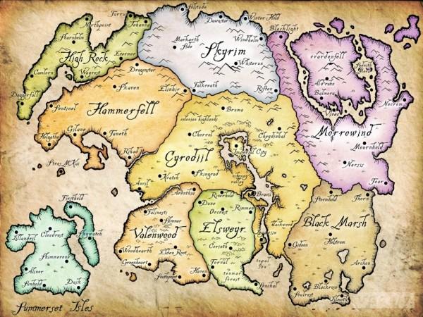 В Elder Scrolls Online представлен весь Тамриэль