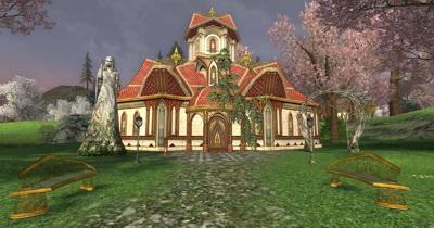 Эльфы в LotRO явно не отличались скромностью. Не дом, а вилла олигарха - да и стиля не больше...