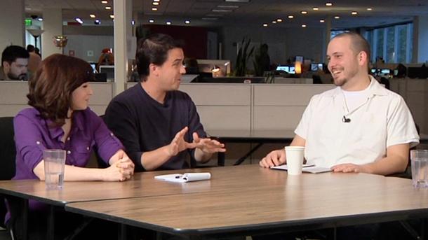 На вопросы игрового обозревателя отвечали Ник Конкл, Брайан Вилер и Мария Алипрандо