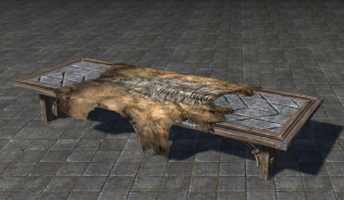 Большой Орочий Стол со Шкурами