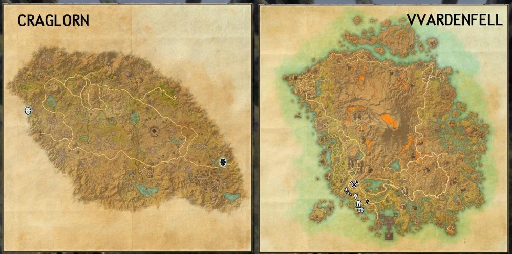 Эти карты выполнены в разном масштабе, на самом деле Морровинд в несколько раз больше Краглорна