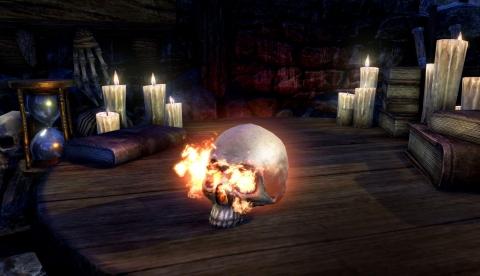 Пламенеющий череп Пустого Джека (Hollowjack Flame Skull), предмет мебели